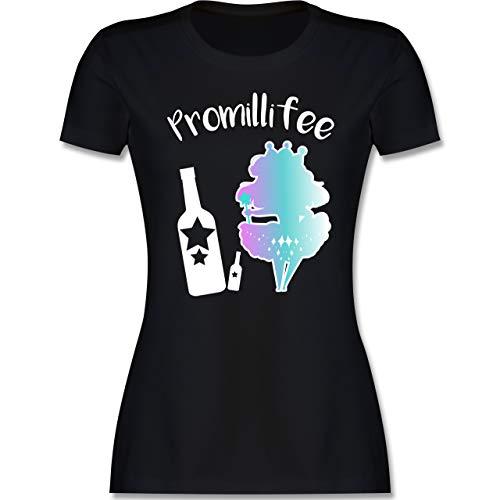 Typisch Frauen - Promillifee - S - Schwarz - typisch Frauen Shirt - L191 - Tailliertes Tshirt für Damen und Frauen T-Shirt