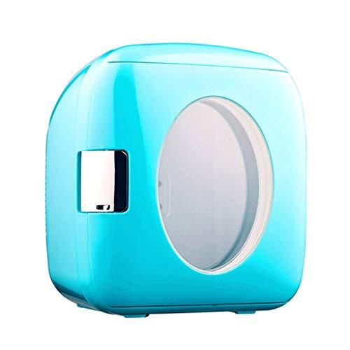 Mini Nevera Mini Refrigerador 9L Mini refrigerador refrigerador y calentador Compacto Refrigerador Portátil y tranquilo Ventana visual para el hogar, Dormitorio Coche Alimentos de vacaciones Maquillaj