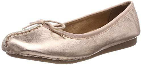 Clarks Damen Freckle Ice Geschlossene Ballerinas, Gold (Rose Gold), 39 EU