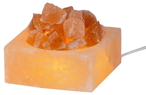 Himalaya Salt Dreams 4041678006532 salzkristallschale Petite Cube Lumineux, Largeur : 8 cm-Hauteur : env. 4 cm-avec LED-électrique
