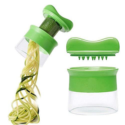 Integrity.1 Espiralizador de Verduras de Mano,Cortador en Espiral de Verduras,Cortador en Espiral,Rallador Multifuncional,Máquina para Hacer Pasta de Verduras,para Pepino Rallado y Zanahoria