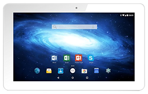 Odys Ieos Next 10 25,7 cm (10,1 Zoll IPS Display) Tablet-PC (1,3 GHz Quad Core, 1GB RAM, 16GB HDD, Mali-400MP2, Android 5.1) weiß