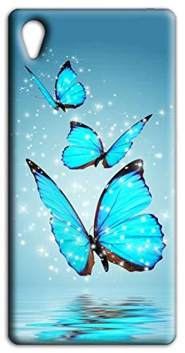 Mixroom - Cover Custodia Case in TPU Silicone Morbida per ASUS Zenfone Live L1 ZA550kl 5.5' Fantasia Farfalle Blu L157