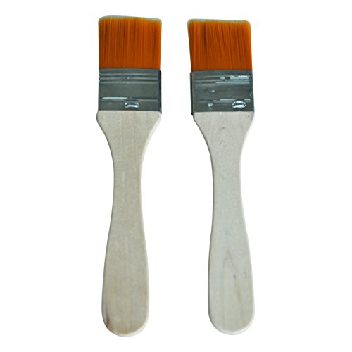 REFURBISHHOUSE 2pcs Soin du visage Outil de maquillage Masque facial Orange brosse