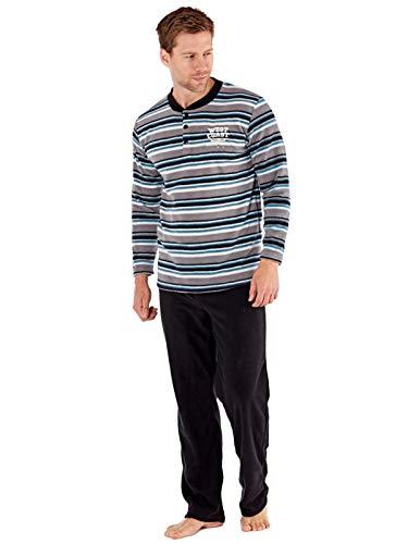 Conjunto de pijama de manga larga y suave con forro polar t