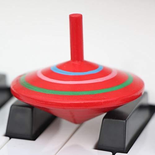 Hanks' Shop Eltern-Kind-DIY Puzzle Spielzeug in Paulclub Mini-Holz-Rotating Gyro, Größe: 6 * 6cm