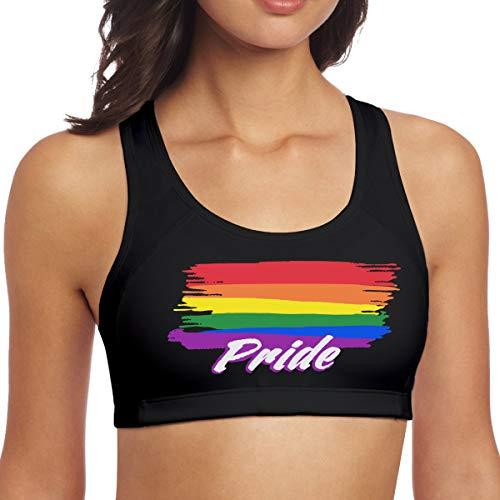 Rainbow Gay Lesbian Pride Womens Sports Bras Hygroscopic Fitness Vest