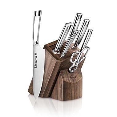 Cangshan N1 Series 1022612 German Steel Forged 8-Piece Knife Block Set, Walnut