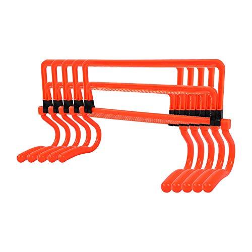 Cikonielf 5 Piezas Obstáculos de Velocidad y Agilidad, 4 Alturas Ajustable, Vallas Entrenamiento para Fútbol, 45 x 36 x 18cm