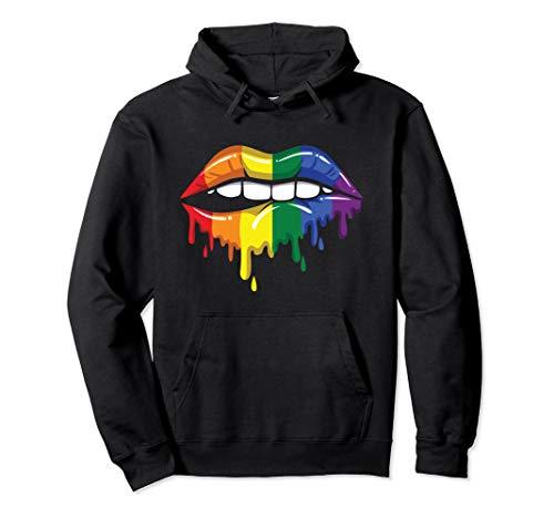 LGBT Regenbogen beißen Gay Pride Lesben Bisexuell Parade Pullover Hoodie