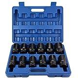 Drive Impact Socket Set, Drive Deep Impact Socket una caja de almacenamiento de plástico de 24 mm a 41 mm para uso comercial para fábrica