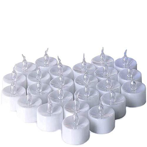 Candele LED Lumini Batteria, Fenvella Candele Elettriche senza Fiamma Giallo Caldo,Lunga Durata della Batteria per Decorazione di Casa Camera Natale Partito Matrimoni Compleanno (24Pz)