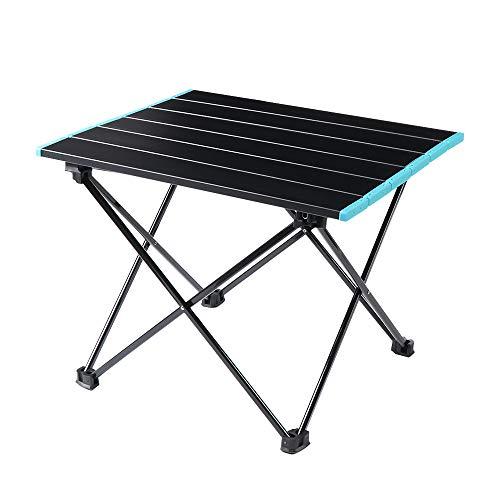 Mesa de camping, barbacoa al aire libre caliente, mesa plegable de picnic, mesa de camping, mesa de aluminio con bolsa de transporte