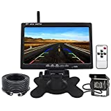 Telecamera per Retromarcia Auto Senza Fili Kit, 7 Pollici TFT LCD Specchio Monitor 18 LED ...