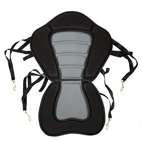 Dasing Asiento acolchado para kayak, con base acolchada y antideslizante, respaldo ajustable con cojín para barco