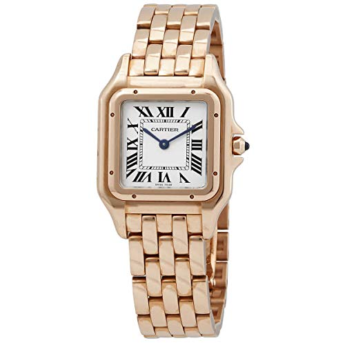 Cartier Panthere de Cartier Silver Dial 18kt Pink Gold Ladies Watch WGPN0007