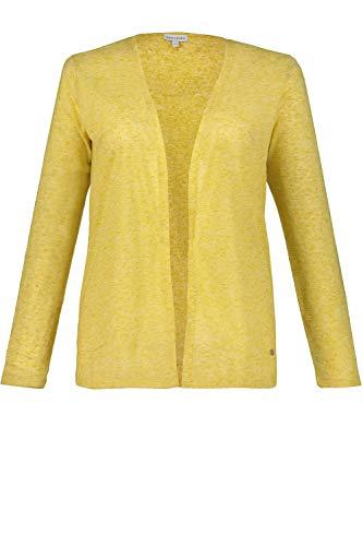 GINA LAURA Shirtjacke, Leinenstruktur Chaqueta Punto, Verde (Olive 44), 42 (Talla del Fabricante: Medium) para Mujer