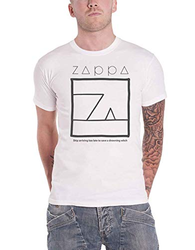Frank Zappa T Shirt Drowning Witch Logo Nue offiziell Herren