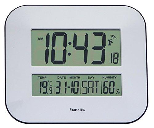 Jumbo LCD Reloj de pared Radio Controlado con pantalla de temperatura y humedad (versión UK)