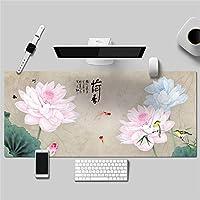 優雅 花 シンプル 多機能 防水 レザーマウスパッド 大型 キーボード ゲーミング オフィスコンピュータテーブルマット(800 x 400 x 2 mm,7)
