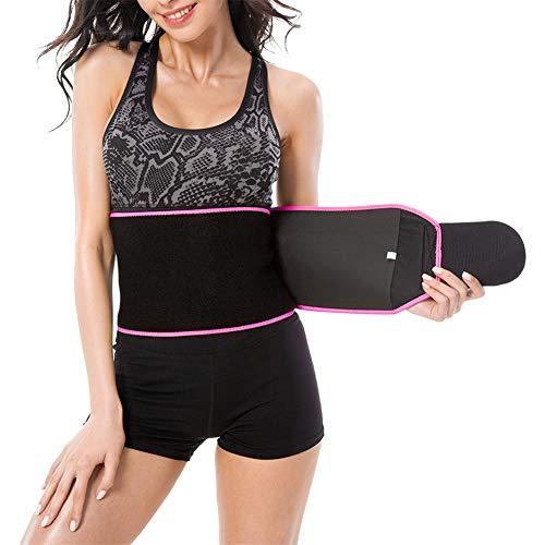 Dames taille zweet trimmer - Sport afvallen body shaper wraps riem - neopreen stof soft touch, elastisch en fit op je taille - voor thuis, in de sportschool, op reis