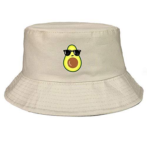 QIANWEIXI Fischerhut Avocado Bucket Hat Vegane Unisex-Mode Outdoor-Reisen Angeln Wanderhut Bob Caps Frauen Männer Panamahut Sonnenkappe Fischerhut-Farbe: 3