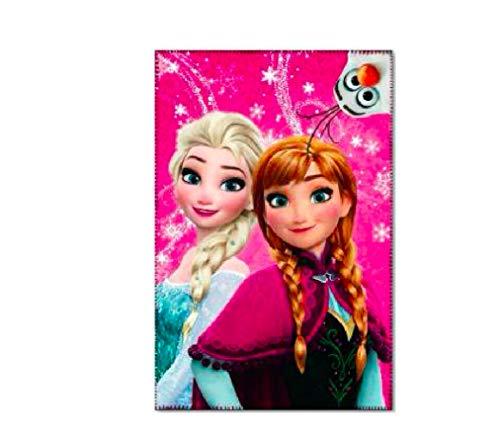 Frozen Eiskönigin Decke PINK Tagesdecke Kinderdecke Fleecedecke Fleece 150 cm inklusive Sticker von Kids4shop
