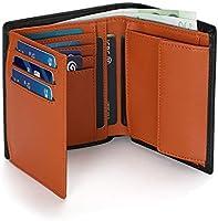 Vemingo Portafoglio uomo,Portafoglio da uomo RFID in formato verticale, 12 scomparti per carte di credito e grande...