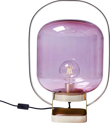 Kare Design Tischleuchte Jupiter Pink, moderne Tischlampe, Nachttischlampe, Wohnzimmerlampe, Lampe, Leuchte für den Tisch oder die Kommode (H/B/T) 54x35x30cm