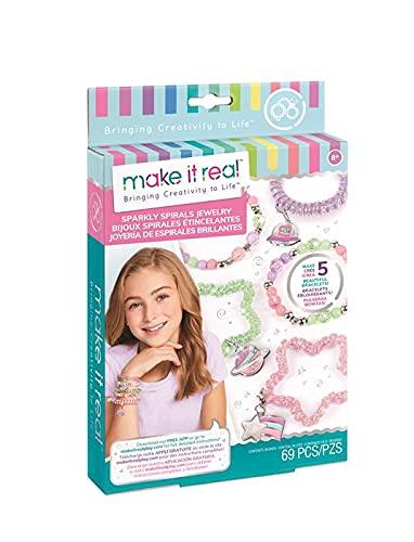 Make It Real- Juegos de Manualidades de joyería para niños, Multicolor (1210)