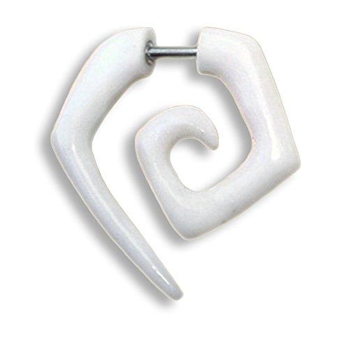 ISLAND PIERCINGS 1 Paar ! Fake Piercing Ohrringe GESCHRAUBT Handarbeit Knochen F015