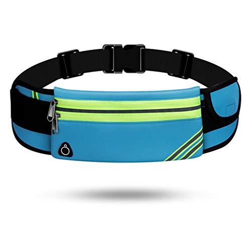 QZZQ Poches Sportives, Ceinture Multifonction Passeport Ajustable Ajustable Double Poche Invisible pour Hommes Et Femmes Fitness Travel Run (Color : Blue)