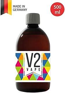 V2 Vape Glycerin VG E-Liquid Base Base 500ml 0.5L Calidad Pharma pura para el auto-mezclado de líquidos electrónicos 0mg libre de nicotina