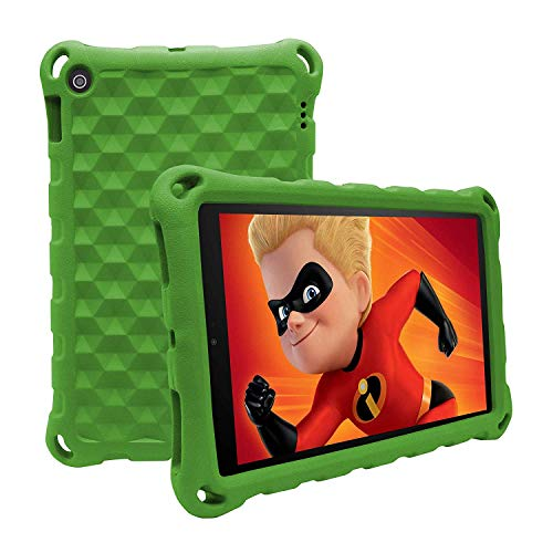 BORXJNM 2019 Style Fǐrě 7 Case, Anti Slip Shockproof Soft Slim Light Weight Kids Protective Case for Ämǎzǒn Fǐrě 7 Inch Tablet (9th Generation 2019/7th Generation 2017/5th Generation 2015) (Green)