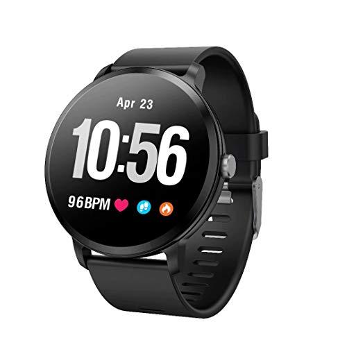 MeterMall CE Mannen Smart Horloge Activiteit Fitness Tracker Hartslagmeter Smartwatch Waterdichte Polsband Horloge zwart