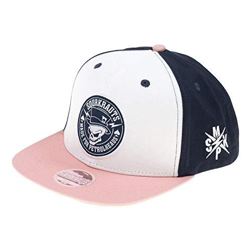SOURKRAUTS Snapback SK II I Baseball Cap in Rosé-Blau für Herren I Tuning Basecap I Kappe mit SK II Logo