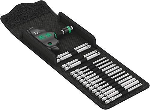 Wera '05057470001 Kraftform Kompakt 400 Handhalter und Bit-Satz, 15-teilig