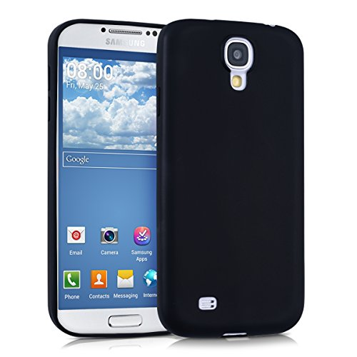 kwmobile Cover Compatibile con Samsung Galaxy S4 - Custodia in Silicone TPU - Backcover Protezione Posteriore- Nero Matt
