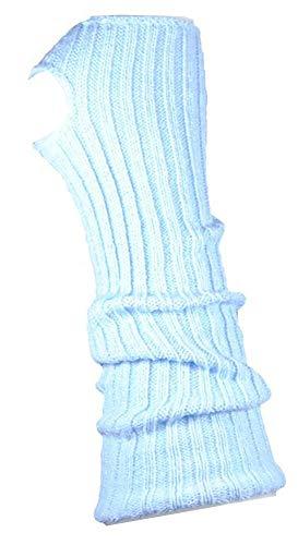 AVIDESO Stulpen Damen/Mädchen/Kinder - Ballettstulpen + Fersenloch - Tanzstulpen Beinstulpen Armstulpen Strick Weich Legwarmer (Erwachsene (ca. 43cm lang), hellblau)