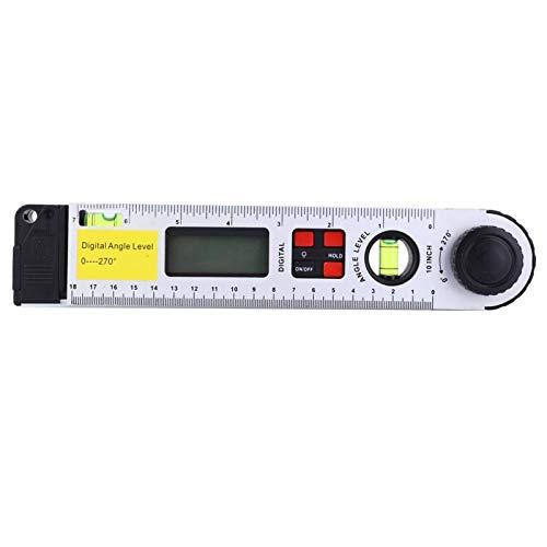 PBOHUZ Regla de ángulo -0~270 ° Transportador infrarrojo Digital Inclinómetro de Nivel electrónico Regla de ángulo 250 mm
