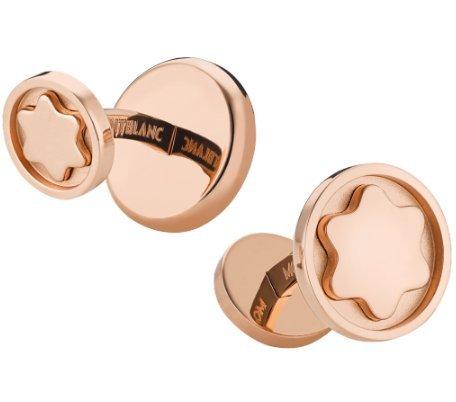 Mont Blanc Sartorial Rosa Gemelos de oro marca nueva caja/libro de garantía