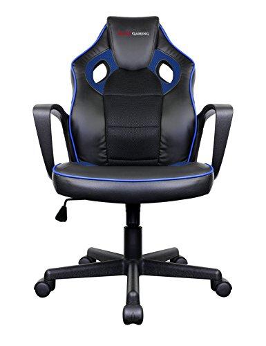 MARSGAMING MGC0BBL Silla Gaming Profesional, Poliuretano, Azul, 61.5x55x104 cm