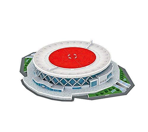 Modelo de Rompecabezas de Deportes 3D, Golden State Warriors Home Game Oracle Arena Basketball Stadium Modelo (73pcs