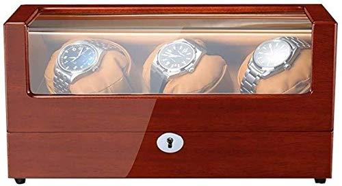 ZouYongKang Reloj Winder para 2 Relojes automáticos, Acabado de Piano de Madera, 5 Modos y Mute giratorios múltiples Cuadros de Relojes Multi-posicionales, Almohada de Reloj Flexible y Cable USB