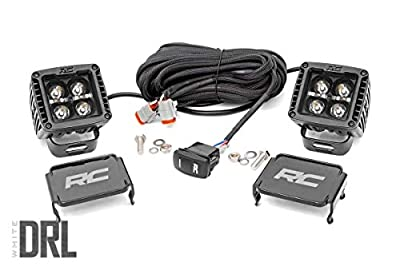 """Rough Country 2"""" Square CREE Cube LED Lights Black Series DRL w/Daytime Running Light Feature (Pair) 70903BLKDRL"""