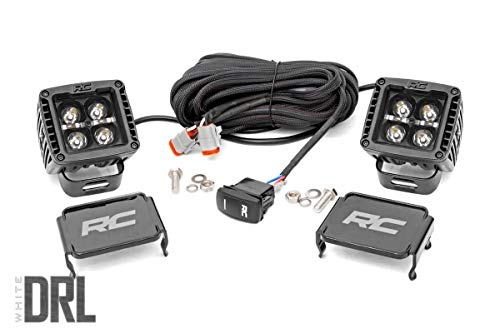 Rough Country 2' Square CREE Cube LED Lights Black Series DRL w/Daytime Running Light Feature (Pair) 70903BLKDRL