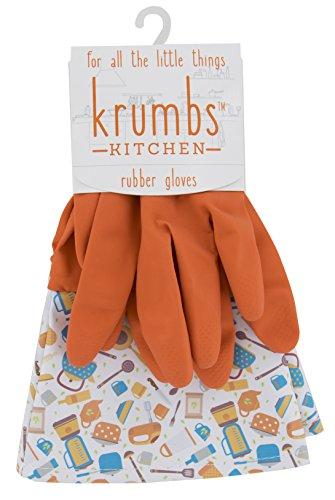 Krumbs Kitchen Rubber, Orange Gadget Glove Liners, One Size
