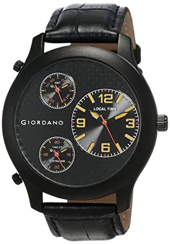 GIORDANO Analog Black Dial Men's Multi Time Watch - 60068 TTM