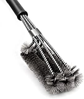 """Perfect BBQ Grill Brush, 18"""" Grill Brush - Stainless Steel Brush w/Wire Bristles 3-in-1 Grill Cleaner Provides Effortless ..."""