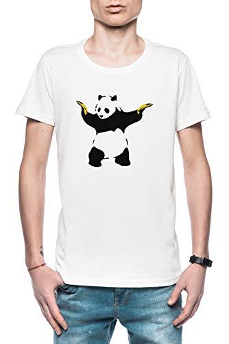Schlecht Panda Schablone Herren T-Shirt Weiß Größe L - Men's T-Shirt White